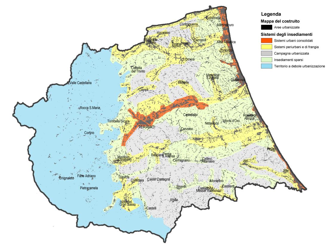 Cartina Geografica Provincia Di Teramo.Sistema Informativo Territoriale