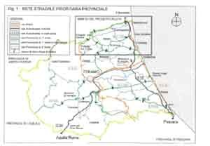 Cartina Geografica Provincia Di Teramo.Figura 3 Cartina Rete Stradale Provinciale
