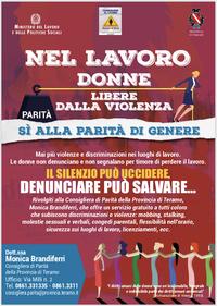 """""""Nel lavoro donne libere dalla violenza"""": la campagna di sensibilizzazione contro la violenza nei luoghi di lavoro"""