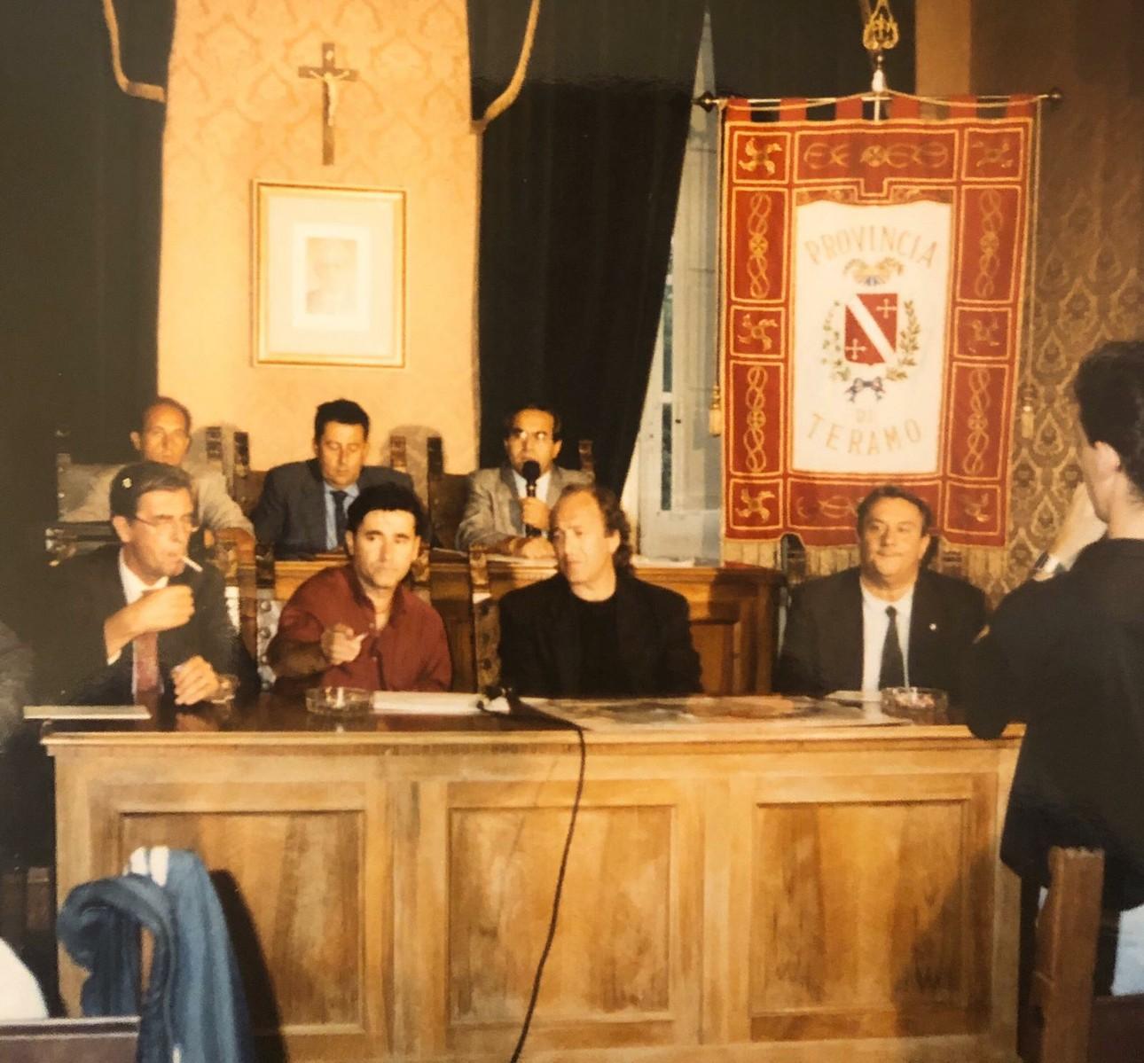foto d'archivio con Ivan Graziani, Mimmo Locasciulli, Enrico Paolini,Franco Tassi, Osvaldo Scrivani