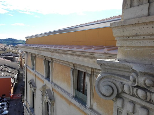 Liceo Delfico: completati i lavori del primo intervento sul tetto