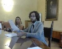 Mario Nugnes, un momento della conferenza stampa