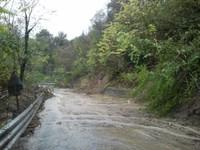 frana sp 491 tra Tossicia e Chiarino