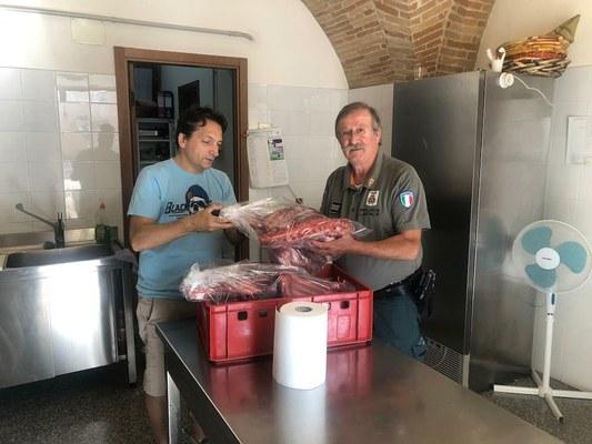 Polizia Provinciale: i cinghiali abbattuti donati alle associazioni di volontariato che gestiscono mense gratuite per i bisognosi