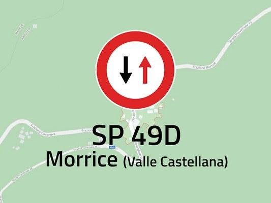 Senso unico alternato sulla provinciale 49D a Morrice di Valle Castellana