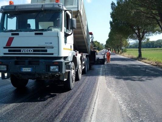 SP 8 del Salinello: lavori di manutenzioni e asfalti