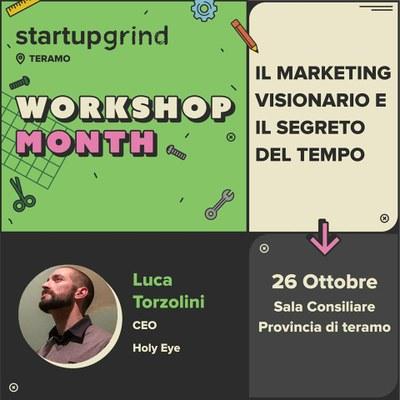 """Startup Grind: """"Il marketing visionario e il segreto del tempo"""" con Luca Torzolini"""